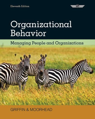 Organizational Behavior Managing People and Organizations 11th 2014 edition cover