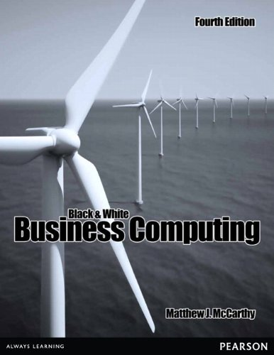 Black and White Business Computing  4th 2011 9781256051695 Front Cover