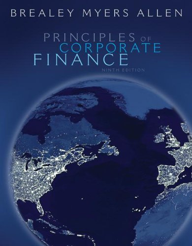 Principles of Corporate Finance  9th 2008 9780073368696 Front Cover