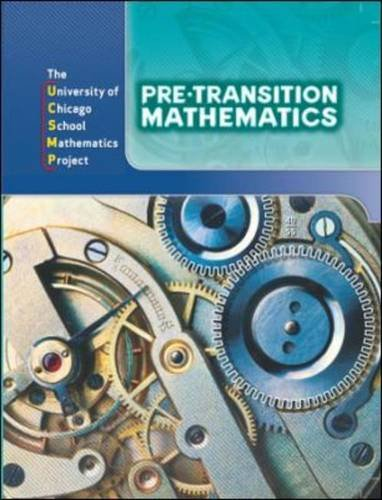Pre-Transition Mathematics Student Edition 3rd 2009 edition cover