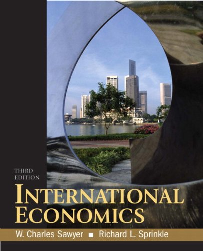 International Economics  3rd 2009 9780136054696 Front Cover
