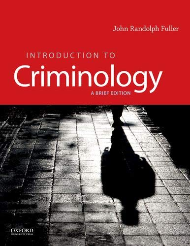 Introduction to Criminology A Brief Edition  2020 9780190641696 Front Cover
