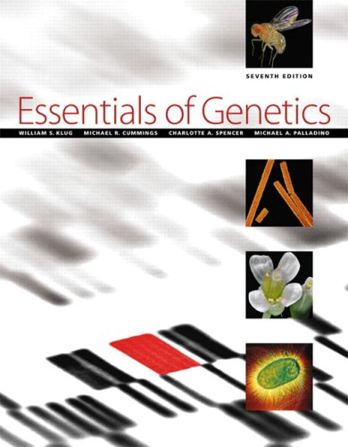 Essentials of Genetics  7th 2010 edition cover