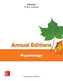 Annual Editions: Psychology, 47/e  47th 2017 9781259657696 Front Cover