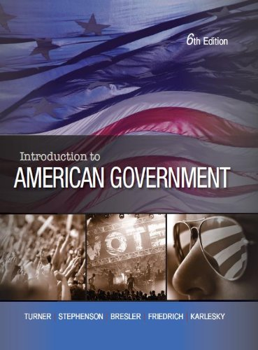 Intro. to American Government  6th 2011 edition cover
