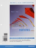 Essentials of Statistics Books a la Carte Plus NEW MyStatLab with Pearson EText -- Access Card Package  5th 2015 edition cover