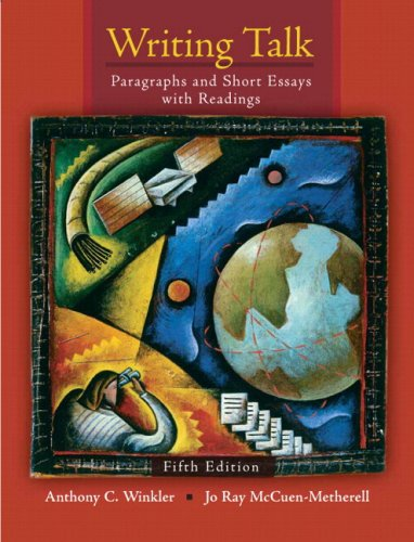 Writing Talk Paragraphs and Short Essays with Readings (with MyWritingLab Student Access Code Card) 5th 2009 9780205708697 Front Cover