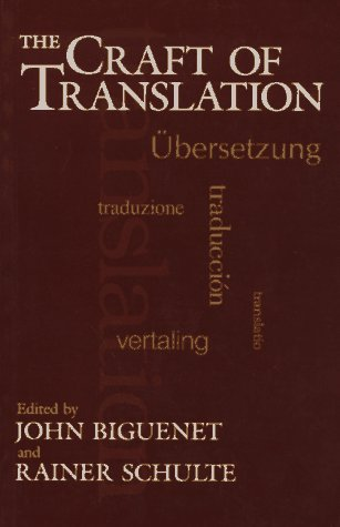 Craft of Translation   1989 edition cover