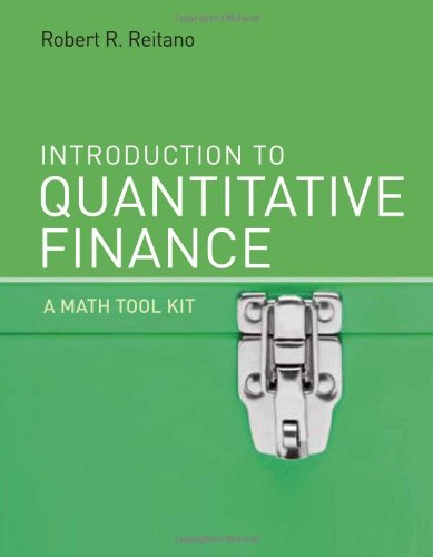 Introduction to Quantitative Finance A Math  2010 9780262013697 Front Cover