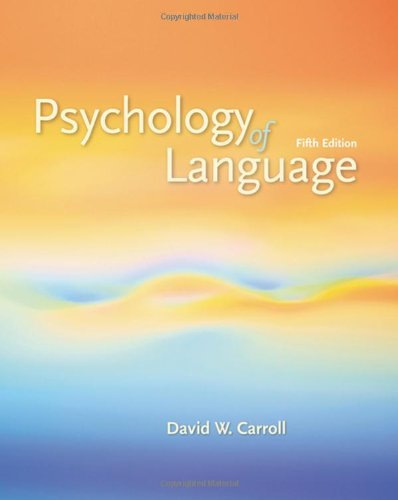 Psychology of Language  5th 2008 edition cover