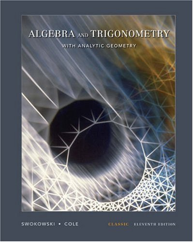 Algebra and Trigonometry with Analytic Geometry  11th 2006 9780534404697 Front Cover