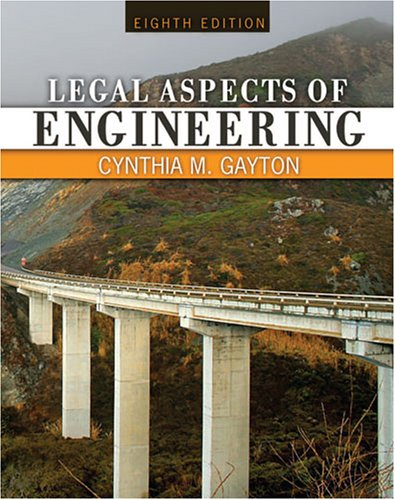 Legal Aspects of Engineering  8th (Revised) 9780757548697 Front Cover