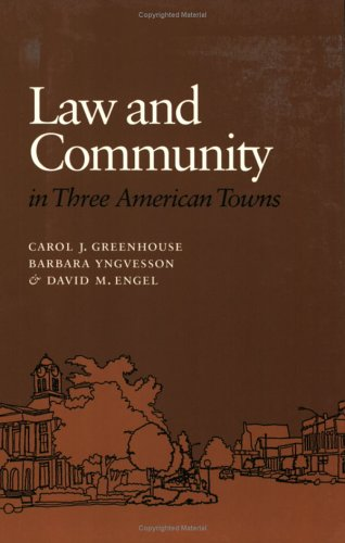 Law and Community in Three American Towns   1994 edition cover