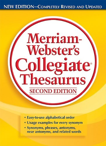 Merriam-Webster's Collegiate Thesaurus  2nd 2010 (Revised) edition cover
