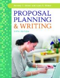 Proposal Planning and Writing  5th 2013 edition cover