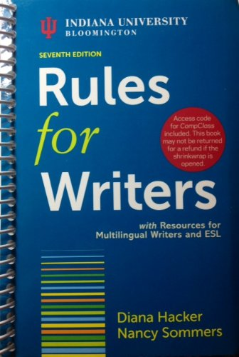 RULES FOR WRITERS-W/ACCESS >CUSTOM<     N/A edition cover
