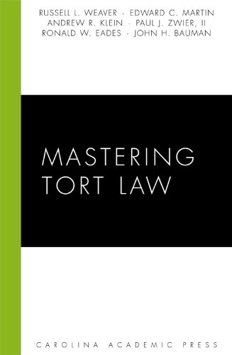 Mastering Tort Law  2009 edition cover