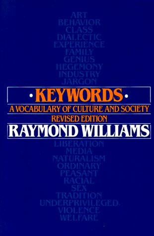 Keywords A Vocabulary of Culture and Society Revised  edition cover