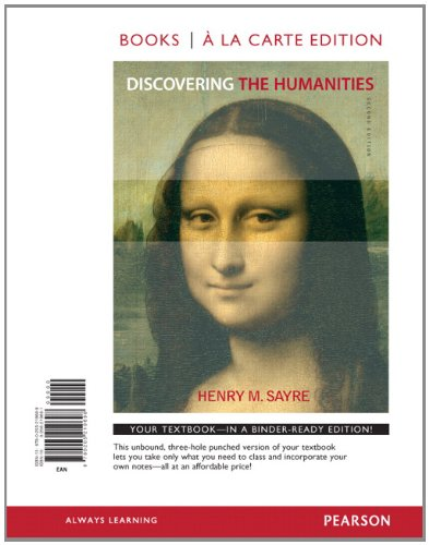 Discovering the Humanities, Books a la Carte Edition  2nd 2013 edition cover