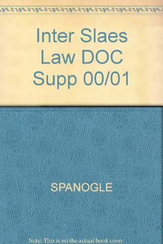 Spanogle and Winship's International Sales Law a Problem-Oriented Coursebook   2000 edition cover