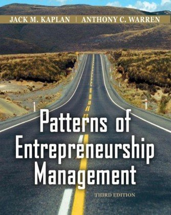 Patterns of Entrepreneurship Management  3rd 2010 9780470169698 Front Cover