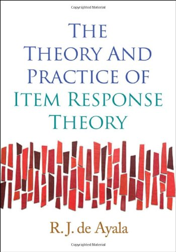 Theory and Practice of Item Response Theory   2009 edition cover