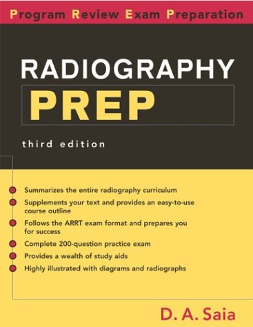 Radiography PREP Program Review and Exam Preparation 3rd 2003 edition cover