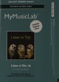MyMusicLab with Pearson EText - Standalone Access Card - for Listen to This  3rd 2015 edition cover