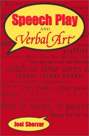Speech Play and Verbal Art   2002 edition cover