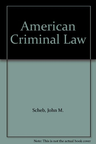 American Criminal Law 1st 9780314068699 Front Cover