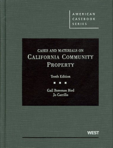 Cases and Materials on California Community Property  10th 2011 (Revised) edition cover