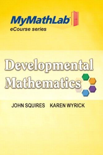 Developmental Mathematics   2012 edition cover