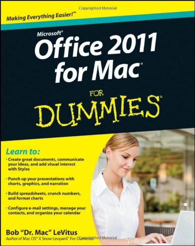 Office 2011 for Mac for Dummies   2011 edition cover