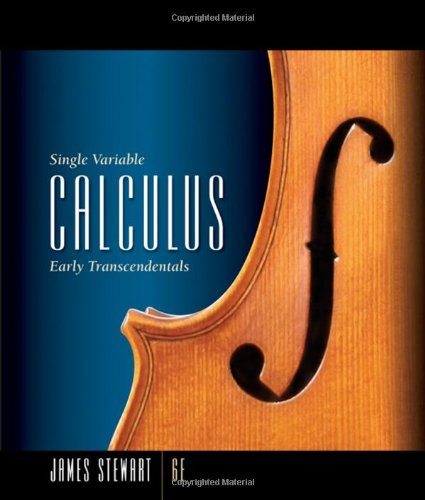 Single Variable Calculus  6th 2008 edition cover