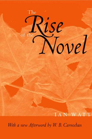 Rise of the Novel   2001 edition cover
