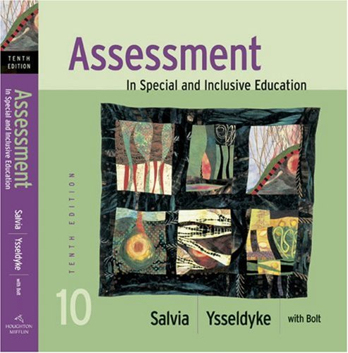 Assessment In Special and Inclusive Education 10th 2007 edition cover