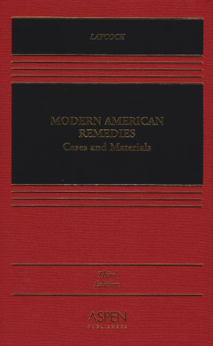Modern American Remedies Cases and Materials 3rd 2002 (Revised) edition cover