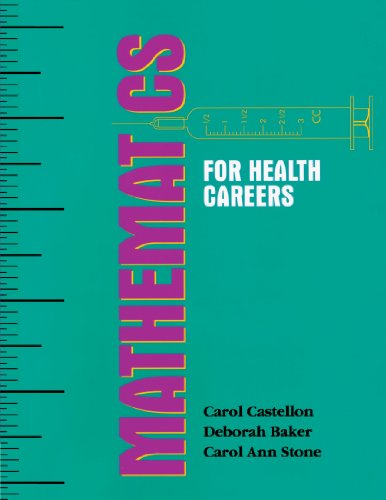 Mathematics for Health Careers   1994 edition cover