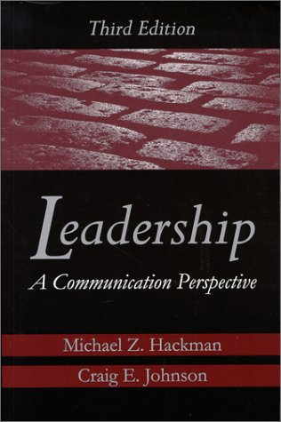 Leadership : A Communication Perspective 3rd 2000 edition cover