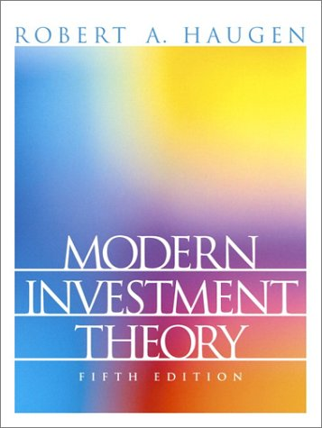 Modern Investment Theory  5th 2001 (Revised) edition cover