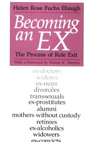 Becoming an Ex The Process of Role Exit  1988 edition cover