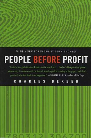 People Before Profit The New Globalization in an Age of Terror, Big Money, and Economic Crisis Revised 9780312306700 Front Cover