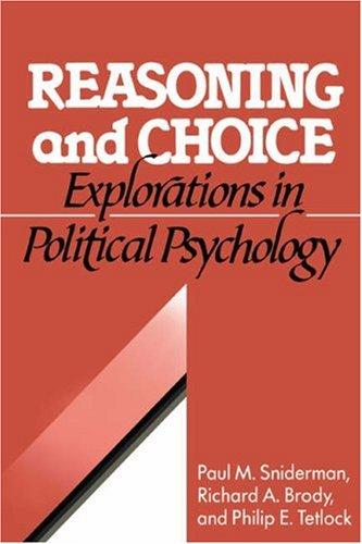 Reasoning and Choice Explorations in Political Psychology  1993 edition cover