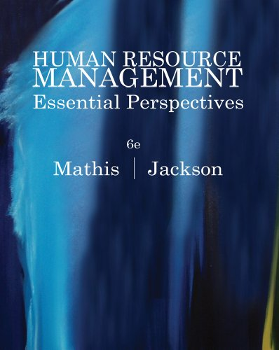 Human Resource Management Essential Perspectives 6th 2012 9780538481700 Front Cover