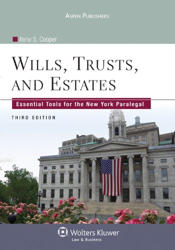 Wills, Trusts, and Estates Essential Tools for the New York Paralegal 3rd 2011 (Revised) edition cover