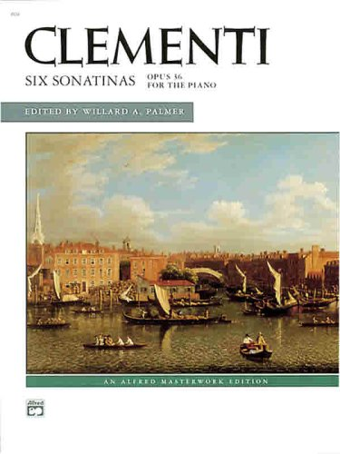Clementi -- Six Sonatinas, Op. 36   1968 edition cover