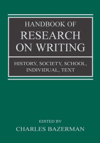 Handbook of Research on Writing History, Society, School, Individual, Text  2008 edition cover