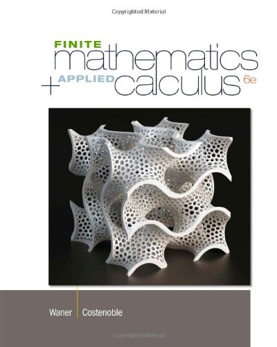 Finite Math and Applied Calculus: 6th 2013 edition cover