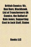 British Comics Viz, Dan Dare, Blackhawk, List of Transformers Uk Comics, the Ballad of Halo Jones, Supporting Cast in Jack Staff, Sl�ine N/A edition cover