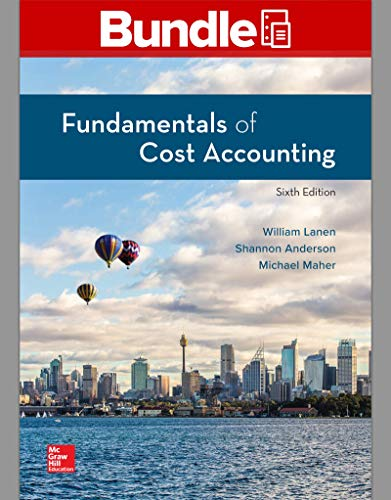 Gen Combo Fundamentals of Cost Accounting; Connect Access Card  6th 2020 9781260848700 Front Cover